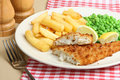 Fish and Chips and Peas Royalty Free Stock Image