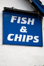 Fish and Chips Sign Royalty Free Stock Image