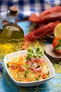 Fish couscous with prawns from Mazara del vallo Royalty Free Stock Photo