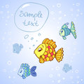 Fish cute vector illustration characters Royalty Free Stock Photography
