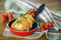 Fish cutlets fried in the corn flour on the table Stock Photos