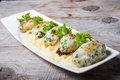 Fish cutlets with mashed potatoes Royalty Free Stock Photo