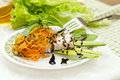 Fish dish with vegetables Royalty Free Stock Photography