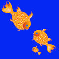 Fish family in the sea vector illustration Royalty Free Stock Photography