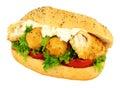 Fish Finger Filled Sandwich Roll