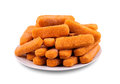 Fish fingers on a plate Stock Photography