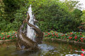 Fish Fountain In Japanese Gard...