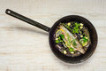 Fish in Frying Pan Royalty Free Stock Photo