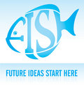FISH - Future Ideas Start Here Royalty Free Stock Image