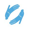 Fish hand design icon Royalty Free Stock Photo