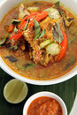 Fish head soup asian food Royalty Free Stock Images