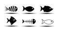 Fish icons on white background Royalty Free Stock Image