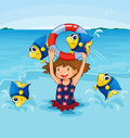 Fish jumping Royalty Free Stock Image