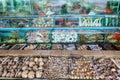 Seafood Market Fish Tanks in Sai Kung, Hong Kong Royalty Free Stock Photo