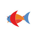 Fish logo on white background Royalty Free Stock Photography