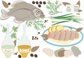 Fish lunch.Illustration. Stock Photo