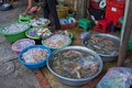 Fish market with alive sea food in sihanoukville Royalty Free Stock Photography