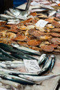 Fish market counter Stock Photo