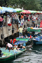 Fish Market in Hong Kong` Royalty Free Stock Image