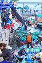 Fish market hong kong selling Stock Images