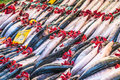 Fish market istanbul selling fresh at the street markets in Royalty Free Stock Image