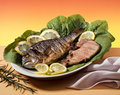 Fish and meat Royalty Free Stock Image