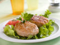 Fish or meat  rissole Royalty Free Stock Photo