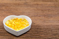 fish oil in heart shape bowl Royalty Free Stock Photo