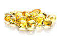 Fish oil pill Royalty Free Stock Photo