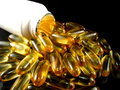 Fish Oil Tablets Royalty Free Stock Photography