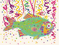 Fish and Party Confetti Stock Photography