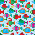 Fish pattern Stock Image