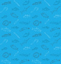 Fish pattern vector illustration of seamless Royalty Free Stock Photography