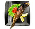 Fish in plate Royalty Free Stock Photo