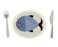 Fish on a plate Royalty Free Stock Photo