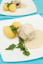 Fish with potatoes Royalty Free Stock Images