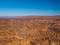 Fish river canyon the second largest in the world namibia Stock Photo