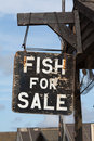 Fish for Sale sign Stock Photo