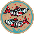 Fish - Salmon - Native American Style Royalty Free Stock Photography