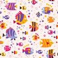 Fish sea pattern Royalty Free Stock Photo