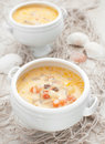 Fish and seafood chowder soup