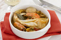 Fish with seafood and vegetables Royalty Free Stock Image
