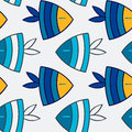 Fish seamless pattern aquarium with colorful tropical Stock Photo