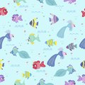 Fish seamless pattern for baby