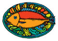 Fish served on plate Royalty Free Stock Photo