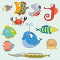 Fish set cartoon this is file of eps format Royalty Free Stock Photos