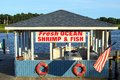 Fish shack empty on the inter coastal waterway Stock Images