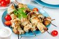 Fish shish kebab Royalty Free Stock Photo