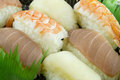Fish And Shrimp Sushi Royalty Free Stock Photo