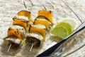 Fish skewers Royalty Free Stock Photo